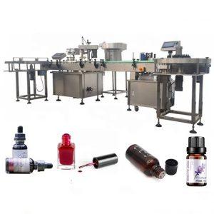 3 KW stroj za polnjenje plastenk z eteričnim oljem s sesalno napravo proti kapljanju