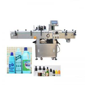 Avtomatski stroj za etiketiranje steklenic s tekočino za razkuževanje