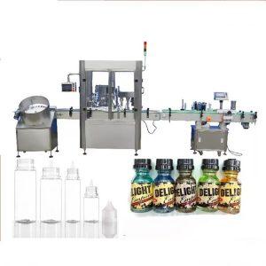 Stroj za polnjenje steklenic s kapalko za servo motorje