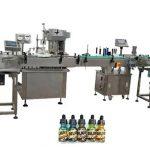 Dve glavi popolnoma avtomatski stroji za polnjenje steklenic za 30 ml jantarne steklenice